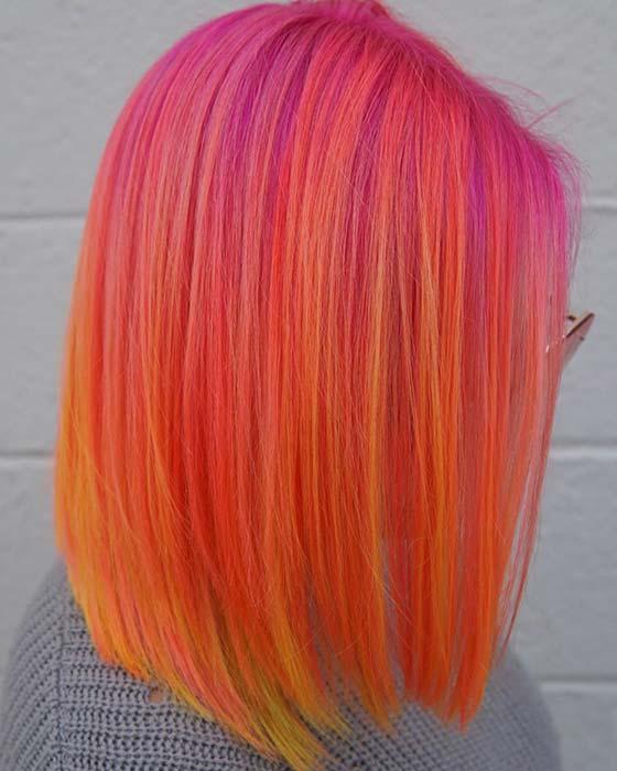 Tropical Orange Hair