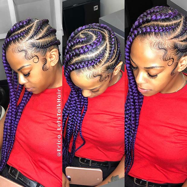 Vibrant Jumbo Braids with a Funky Pattern