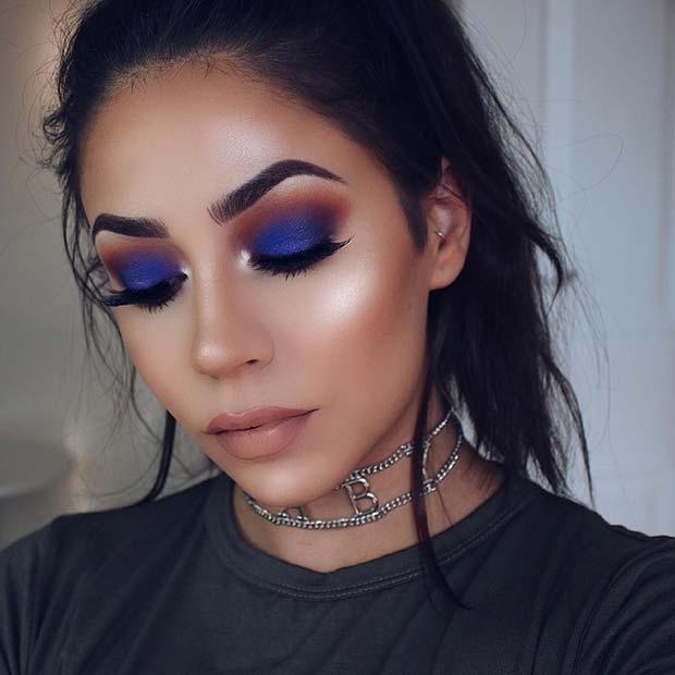 Vivid and Vibrant Blue Makeup