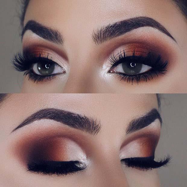 Warm Autumnal Eyeshadow Blend