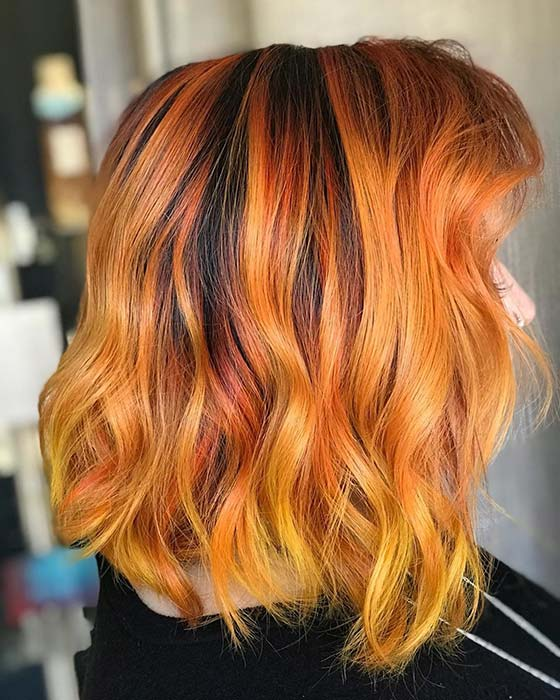 Warm and Fiery Hair Color