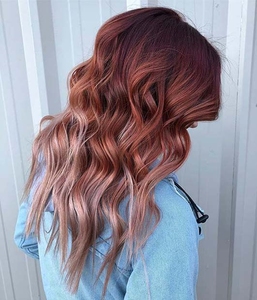 Warm to Cool Red Color Idea