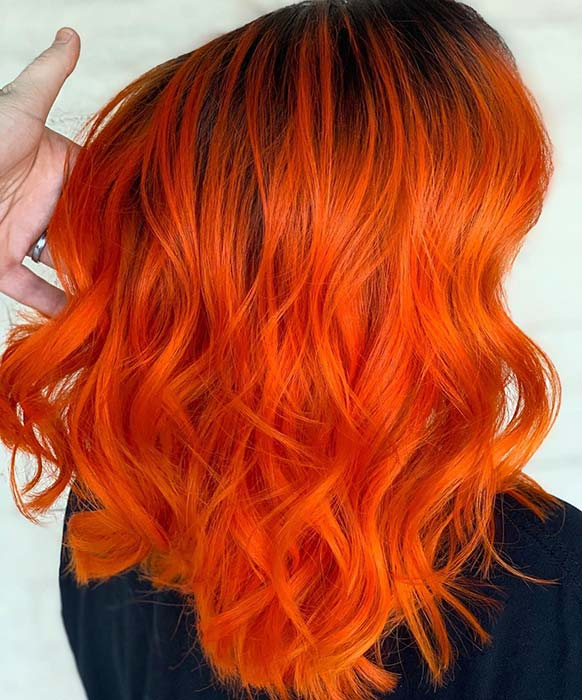 Zesty Orange Hair