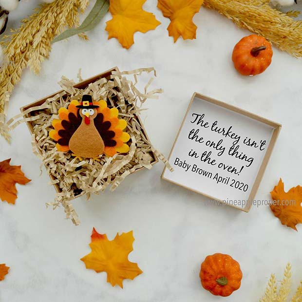 Amazing Turkey Thanksgiving Pregnancy Announcement