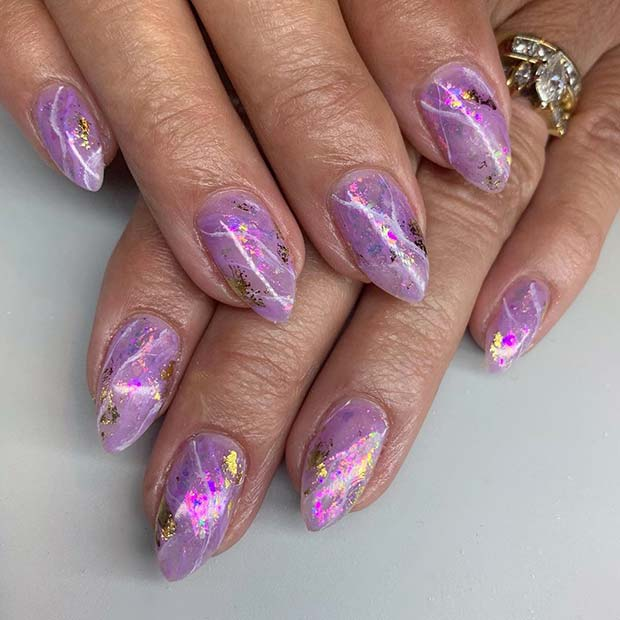 Amethyst Nail Art