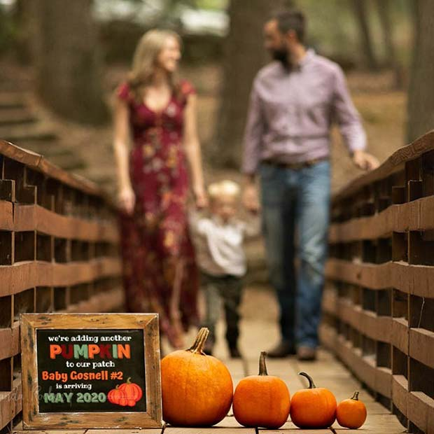 Beautiful Family Photo Idea for Pregnancy Reveal