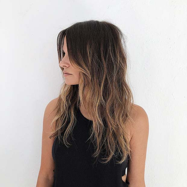 Brown Hair with Subtle and Warm Blonde