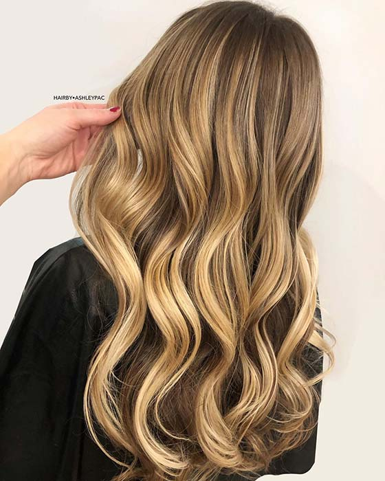 Brown and Golden Blonde Hair