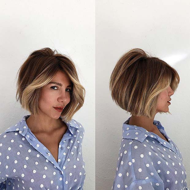 Chic Short Cut with Blonde Highlights