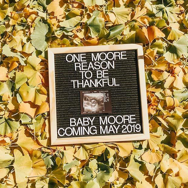 Fall Theme Pregnancy Announcement