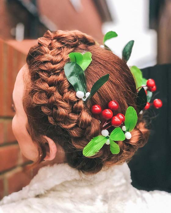 Festive Halo Braid