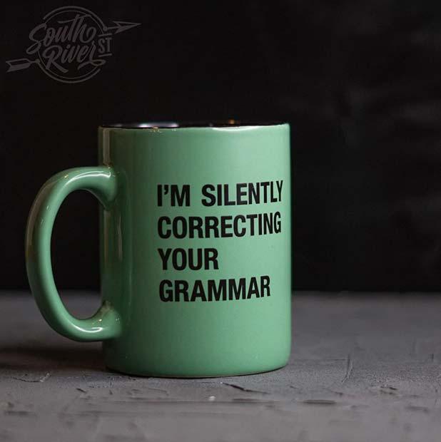 Funny Grammar Mug