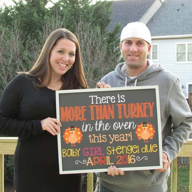 Funny Thanksgiving Pregnancy Announcement