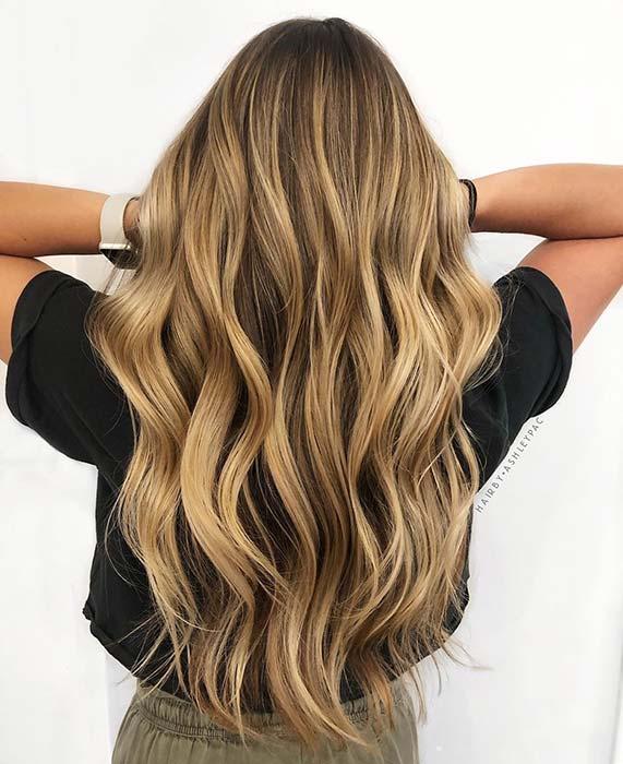 Golden Blonde Waves