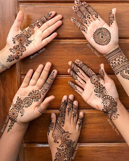 Group Henna Tattoo Designs