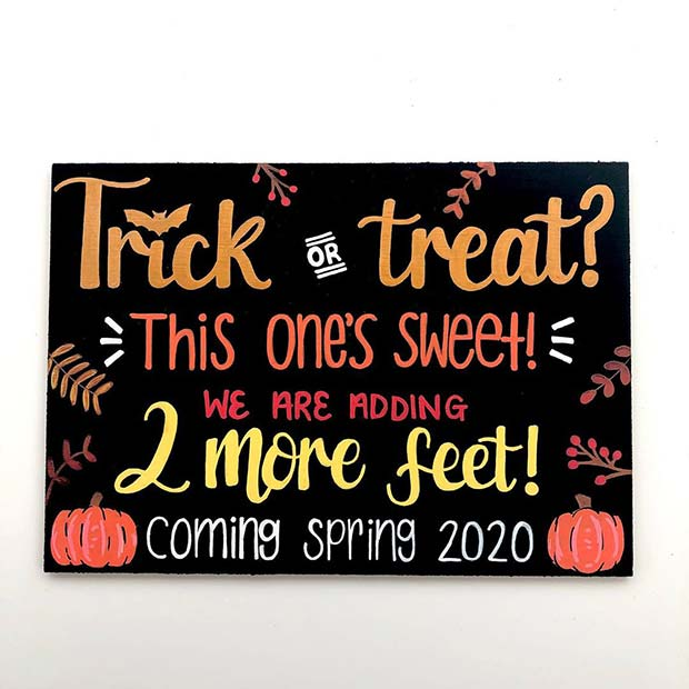 Halloween Inspired Pregnancy Announcement