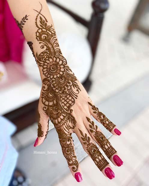 Hand and Wrist Henna Design