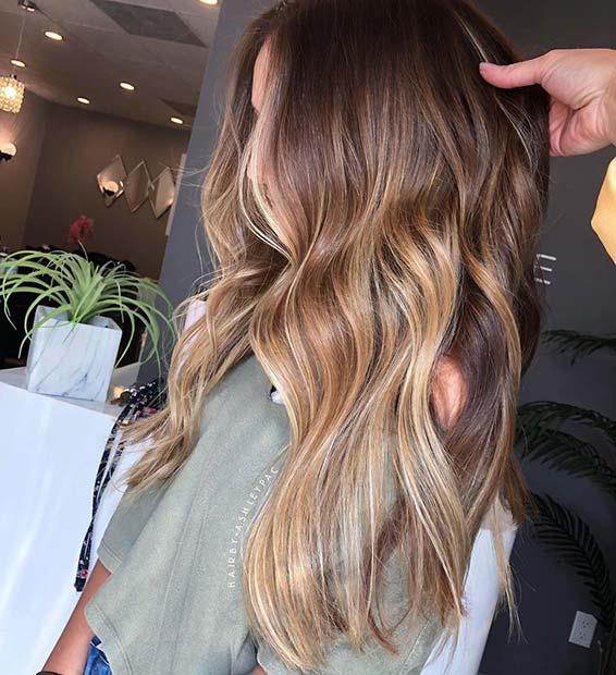Light Blonde Ombre Hair Color Idea