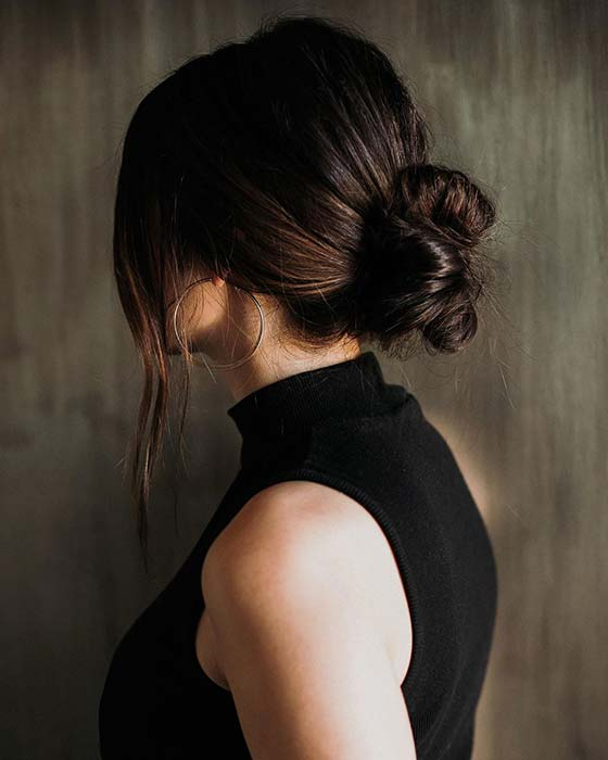 Low and Chic Bun Updo