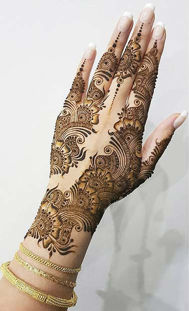 Ornate Henna for the Hands