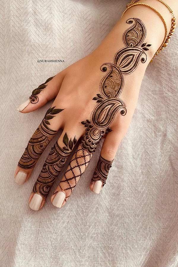 Paisley Henna Hand Design