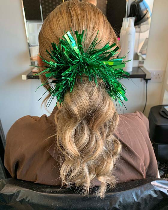 Ponytail with Tinsel
