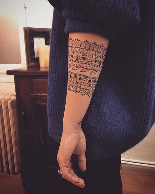 Pretty Tribal Arm Tattoo