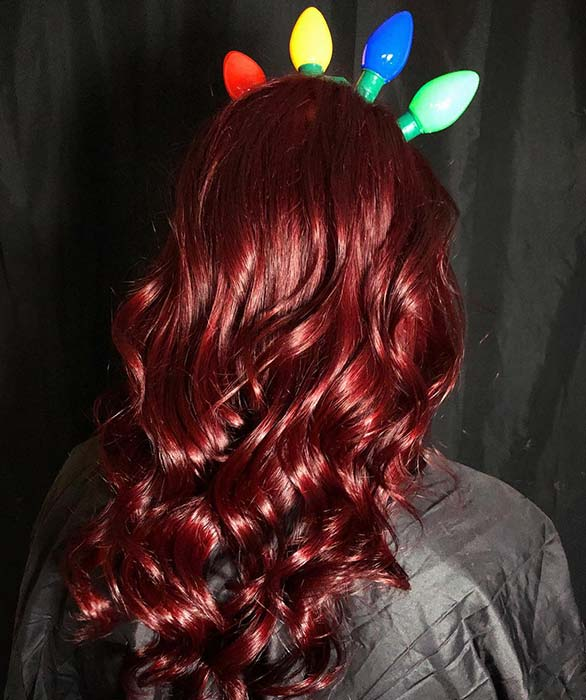 Red Hair with a Festive Headband