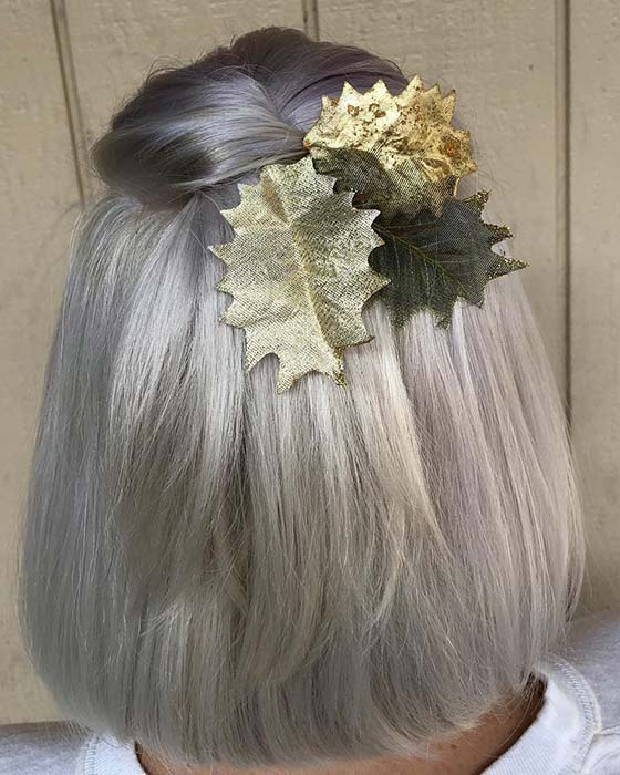 Silver and Gold Hair Idea