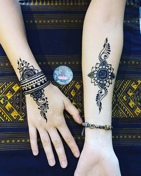 Stylish Henna Arm Designs