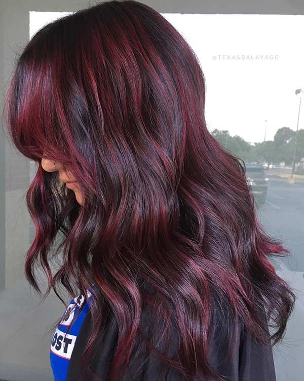 Subtle Dark Red Highlights