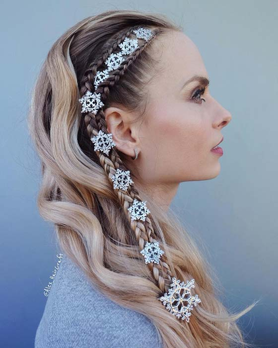 Trendy Braids and Snowflakes