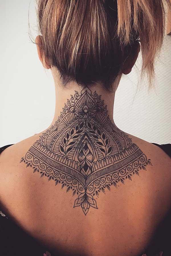 Tribal Back Tattoo Idea