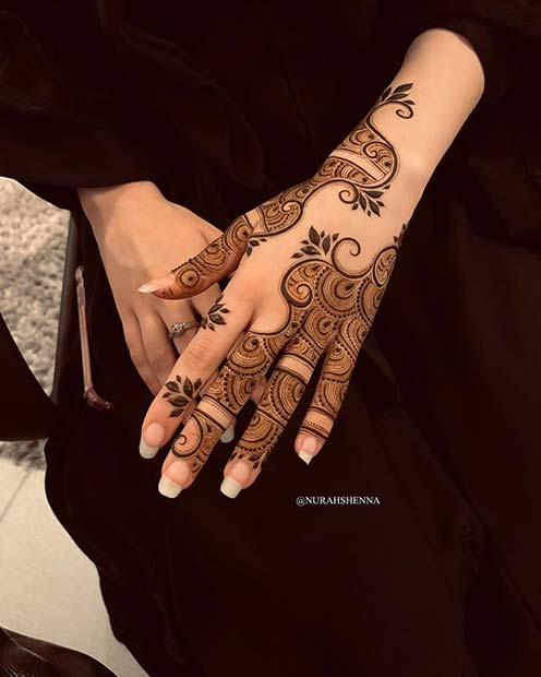 Unique Henna Hand Design
