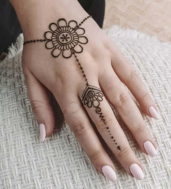 Wrist and Finger Henna