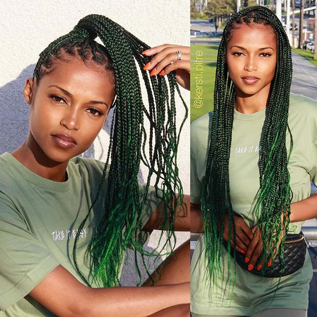 23 Ways To Wear And Style Knotless Braids Stayglam