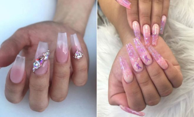 Clear Acrylic Nails