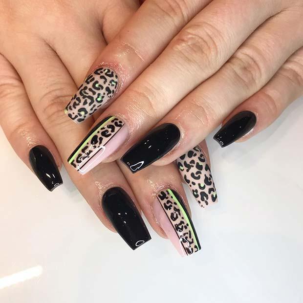 Cool Leopard Print Nail Idea