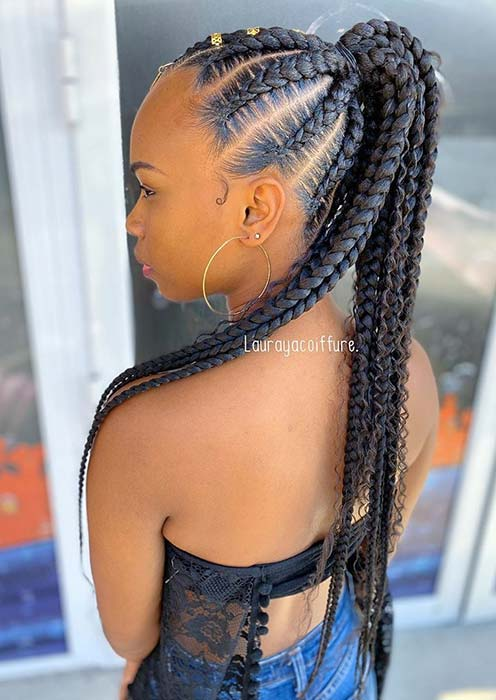 Easy to Wear Braided Ponytail