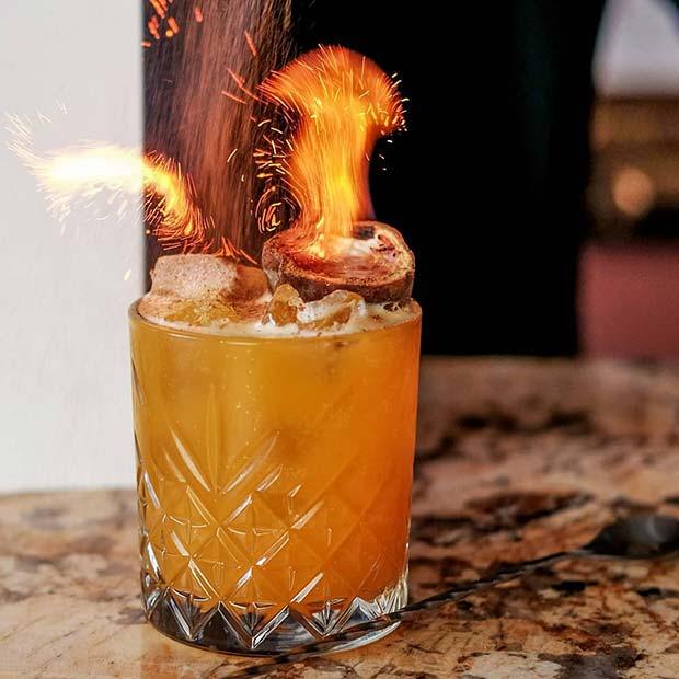 Fiery NYE Cocktail Idea
