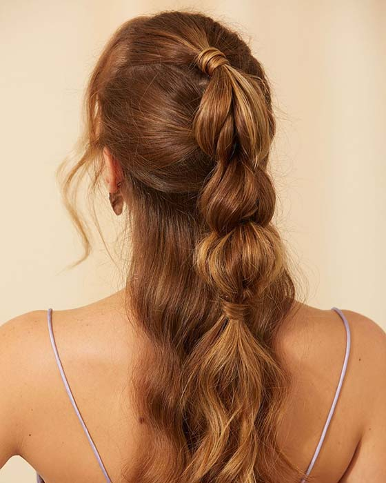 Half Bubble Ponytail