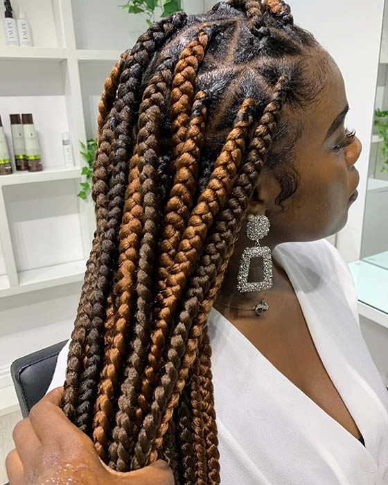 Chunky Braids with Triangle Parts
