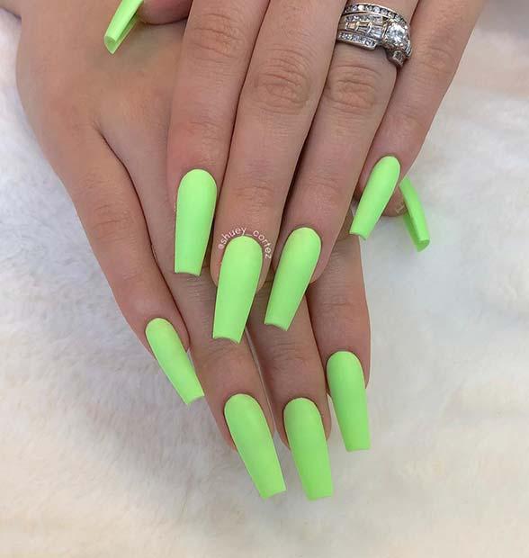 Matte Pastel Neon Nails