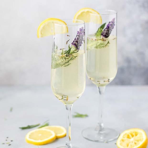 Pretty Lavender Cocktail