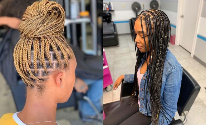 43 Pretty Small Box Braids Hairstyles to Try | StayGlam