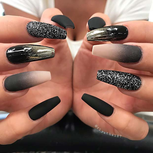 Stunning Black Nail Design