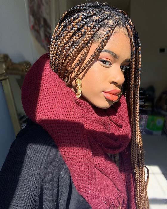 Stylish Caramel Braids