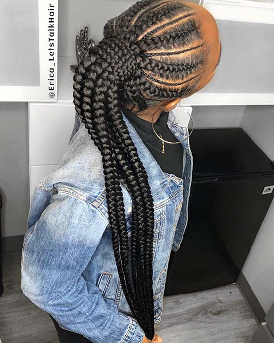 Thick and Thin Feed In Braids