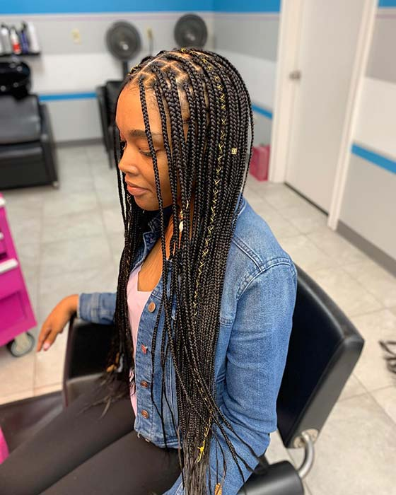 43 Pretty Small Box Braids Hairstyles To Try Page 2 Of 4