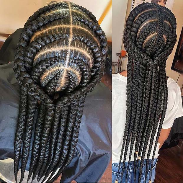 Unique African Braids Hairstyle